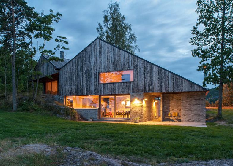 Moderny dom - nad fjordom