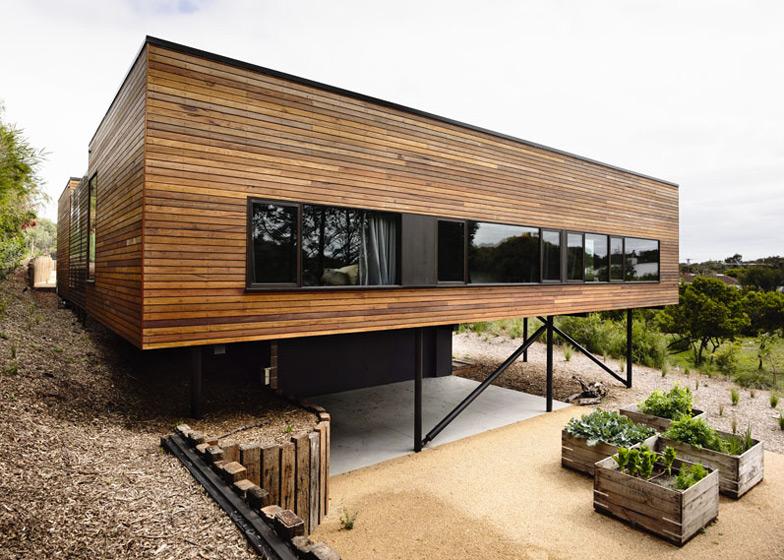 Montovaný dom Drevený obklad Wolveridge Architects