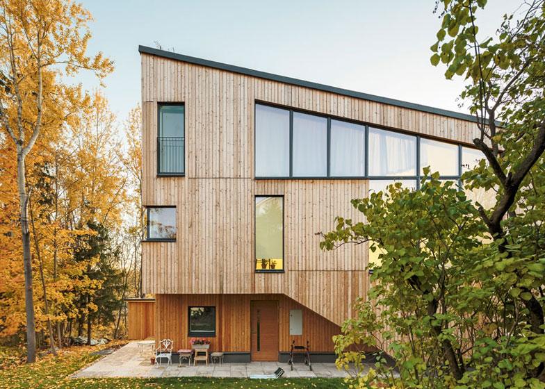 Montovaný dom Drevený obklad Tuomas Siitonen